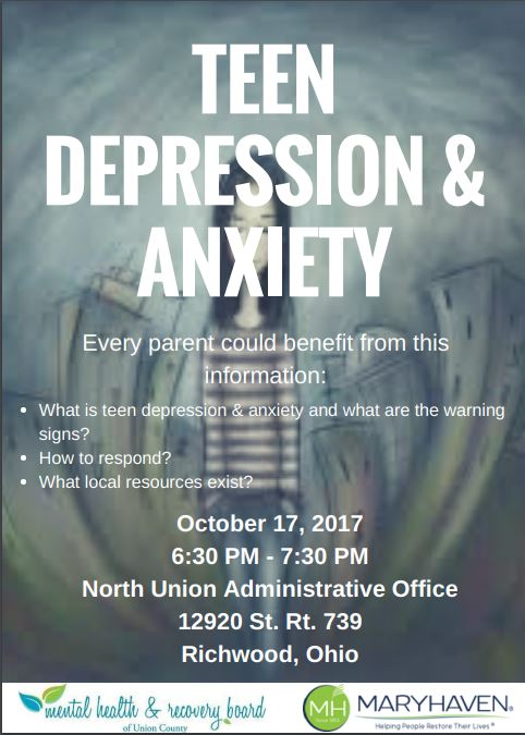 Teen Depression & Anxiety - October 17